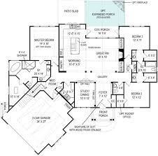 Large Front Porch House Plans by This Efficient And Low Cost Craftsman Style House Plan Boasts A