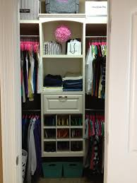 small walk in closet organization girly closet inspiration