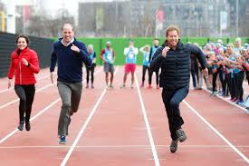 Prince William And Kate Watch Prince Harry Prince William And Kate Middleton Race For