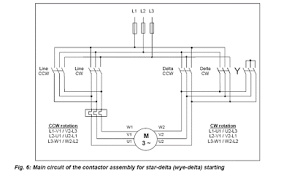 electrical contactors star delta switching
