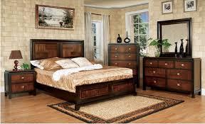 amazon com duo tone 4 piece acacia and walnut bedroom set queen