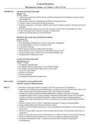 sle of resume systems trainer resume sles velvet