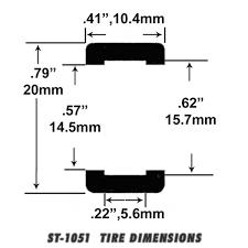 c5 corvette dimensions st 1051 1 32 scale slot car racing tire for fly c5 corvette