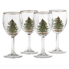 spode tree set of 4 wine glasses spode usa