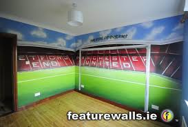 hand painted manchester united old trafford kids room mural by hand painted manchester united old trafford kids room mural by featurewalls ie