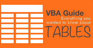 the vba guide to listobject excel tables u2014 the spreadsheet guru