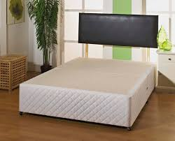 Divan Or Bed Frame Giltedge Luxury White Quilted 4ft 6 Divan Base
