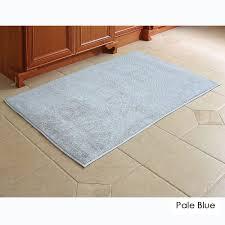 Blue Bath Mat The Softest Cotton Bath Rug Hammacher Schlemmer
