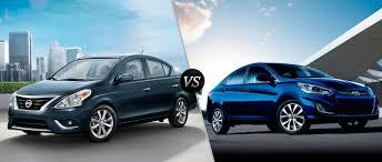 nissan versa blue 2016 nissan versa vs 2016 hyundai accent