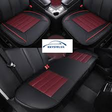 coussin siege auto kkysyelva universel en cuir siège d auto couverture de coussin