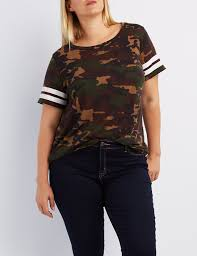 Plus Size Camouflage Clothing Plus Size Camo Football Tee Charlotte Russe