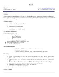 Resume Samples Objective Summary by Sample Objective Human Resources Resume