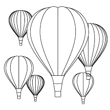 ballon template coloring page free download