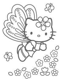 coloriage a imprimer hello kitty papillon gratuit et colorier