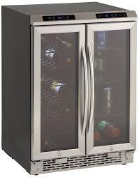 beverage cooler with glass door amazon com avanti wbv19dz side by side dual zone wine beverage