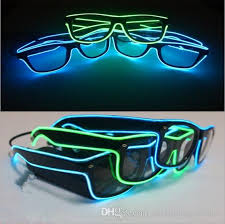 party sunglasses with lights sale el glasses el wire fashion neon led light glow sun glasses