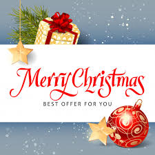 merry best offer lettering vector free