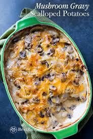 turkey mushroom gravy recipe details mushroom gravy scalloped potatoes recipe scallop potatoes