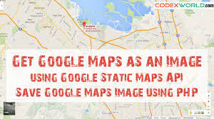php array map get maps as an image static maps api codexworld