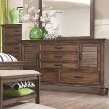 Bedroom Collections Furniture Franco Collection 200971 Bedroom Set In Rustic Burnished Oak By