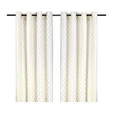 100 Curtains 1 Pair Ikea Henny Rand Curtains White Gray Yellow 57 X 98