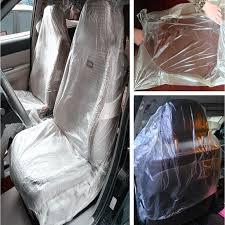 housse plastique siege auto 50pcs voiture siège en plastique jetables couvre véhicule protecteur