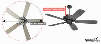 how to select a ceiling fan how to choose the right ceiling fan size advanced ceiling systems