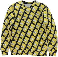 bart sweater simpsons mash up sleeve 3d wear sweater