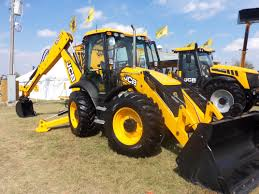 backhoe loader excavator use for ground work digger hire