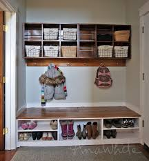 Plans To Build An Entryway Storage Bench by Ana White Wall Cubby Crate Shelves Diy Projects