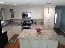 california kitchen with white shaker cabinets u0026 island