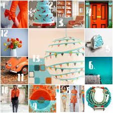 mo pie please color inspiration orange and turquoise