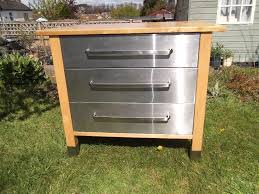 reduced ikea varde freestanding 3 drawer stainless steel