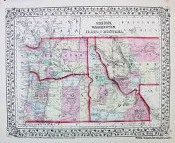 Map Montana Antique Maps And Charts U2013 Original Vintage Rare Historical