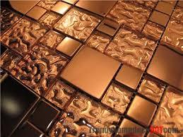 copper tile backsplash for kitchen sle copper metal pattern textured glass mosaic tile for
