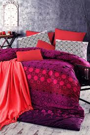 179 best my romantic bed room idea images on pinterest bed debage vals queen duvet set red purple