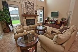 traditional living room with entertainment center u0026 high ceiling