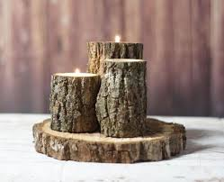 Log Centerpiece Ideas by Best 25 Log Candle Holders Ideas Only On Pinterest Wood Candle