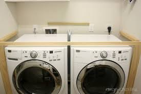 Laundry Room Vanity Cabinet by Crazy Wonderful Diy Built In Washer Dryer Laundry Room