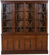 Mahogany Bookcase With Glass Doors Mahogany Antique Bookcases Ebay