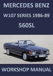 mercedes car manual mercedes 560sl manual ebay