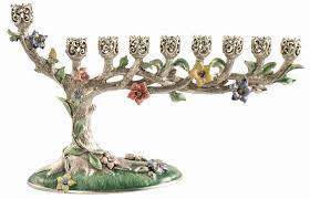 bonsai tree hanukah menorah