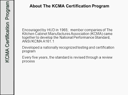 kcma kitchen cabinets kitchen and bath certification ppt video online download