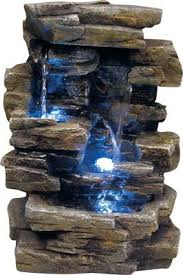 Outdoor Water Fountains With Lights Alpine Tabletop Waterfall Fountain With Led Lights Waterfall