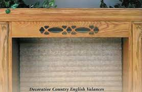 wood country english kitchen valance eclectic ware