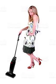 Vaccumming Housewife Vacuuming Stock Photo 471012071 Istock
