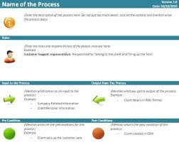 free download business process quick reference card template