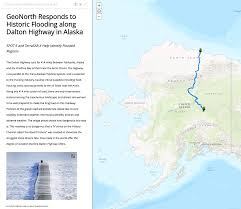 Gulf Of Alaska Map by Geonorth Information Systems Responds To The Flooded Dalton
