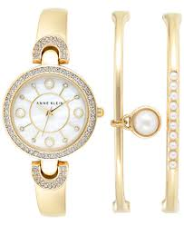 bangle bracelet watches images Innovation idea anne klein bracelet watch ak charm mother of pearl jpg