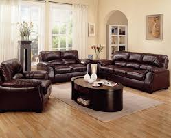 interior impressive living room color black and cream leather